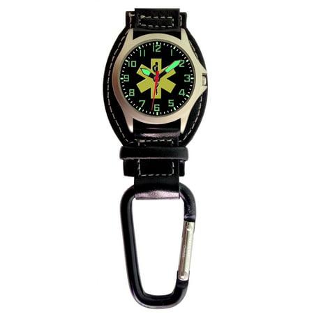 Aqua Force Analog EMT Carabiner Watch w/ Optional Strap (30M water resistant)