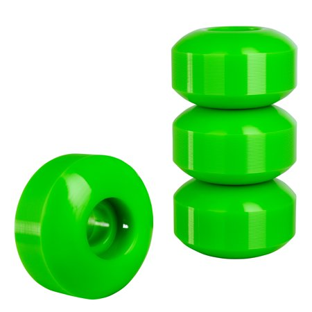 Cal 7 Polyurethane Skateboard Wheels for Street and Park 52x31mm 99A (Solid Green) 50 Mm Skateboard Wheels