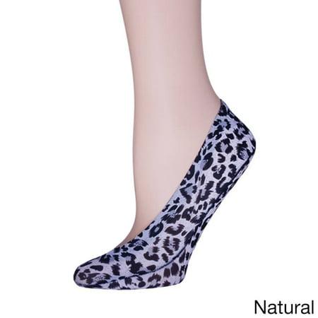 Leopard Smock - MeMoi Leopard Print Foot Liners | Animal Print Liner Sock | MeMoi One Size / Naturel MS1 318