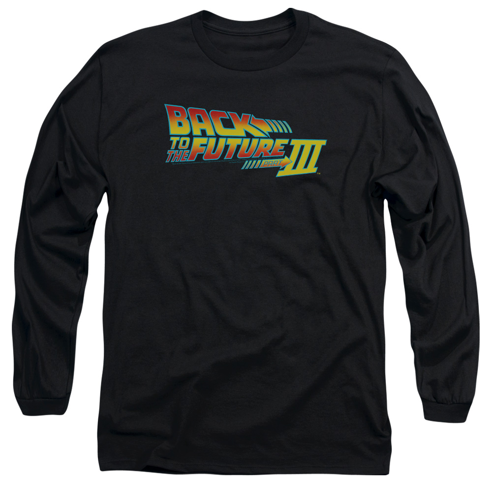 Back To The Future Iii Logo Mens Long Sleeve Shirt
