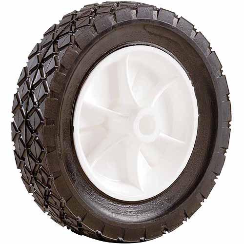 "Shepherd 9611 7"" x 1-1/2"" Plastic Hub Semi Pneumatic Rubber Tire"