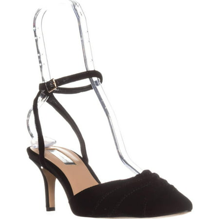womens i35 leala ankle strap pumps, black velvet