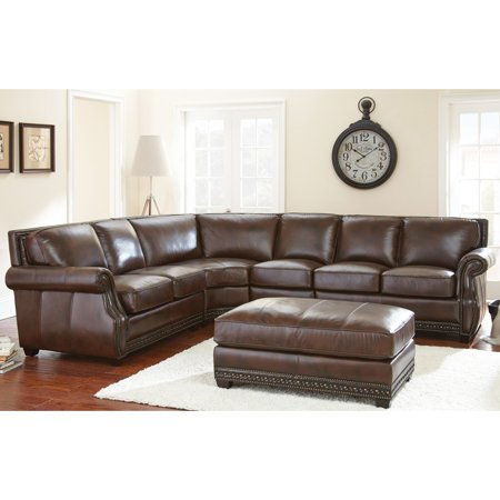 Steve Silver Henry Sectional Sofa With Optional Ottoman Antique - Henry sectional sofa
