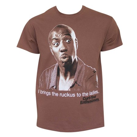 Curb Your Enthusiasm Bring The Ruckus Brown Tee Shirt](Curb Your Enthusiasm Halloween)