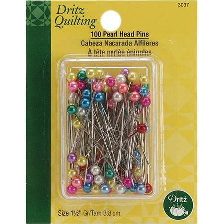 Dritz Quilting Pearl Head Pins  1 1 2   100 Pkg