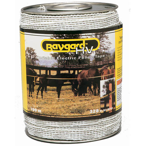 Baygard Parker Mccrory 00692 328' Yellow & Black High Visibility Electric Fence Tape