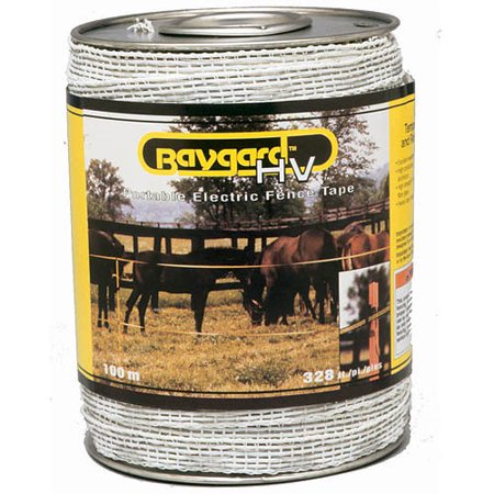 Baygard Parker Mccrory 00692 328' Yellow & Black High Visibility Electric Fence Tape High Tensile Electric Fence