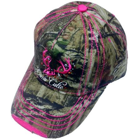 Camo Cutie Cap Womens Mossy Oak Camo Cap with hot pink Trim and - Mossy Oak Woven Cap