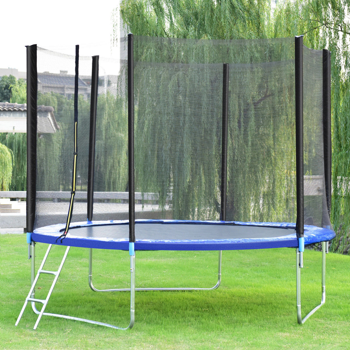Gymax 10 FT Trampoline Combo Bounce Jump Safety Enclosure Net W/Spring Pad Ladder - image 4 of 10
