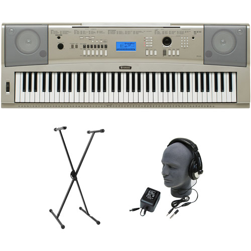 Yamaha YPG-235 76-Key Premium Portable Keyboard Package with Headphones, Stand and Power Supply