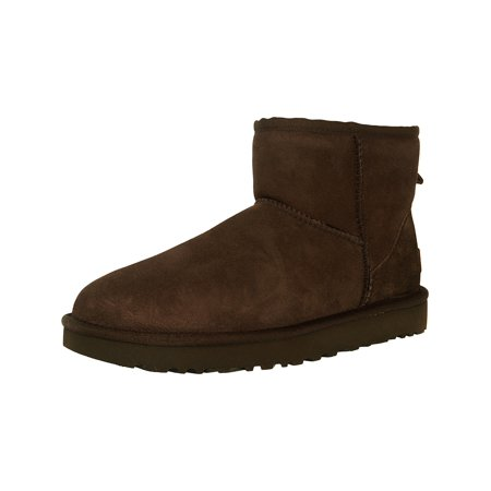 c15aff7d8f6 Ugg Women's Classic Mini II Leather Chocolate Ankle-High Suede Boot - 7M