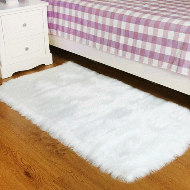 HOTBEST Soft Fluffy Area Rugs Small Sofa Mat for Kitchen Bedroom Living Room