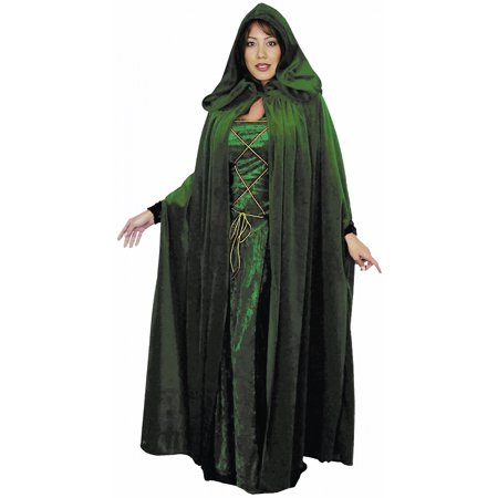 Velvet Cloak Adult Costume Accessory Evergreen](Black Cloaks)