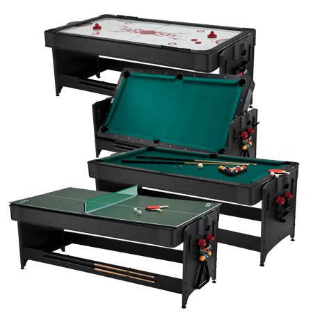 Fat Cat The Original Pockey 7 Foot 3-in-1 Game Table (Billiards, Air Hockey and Table Tennis) ()