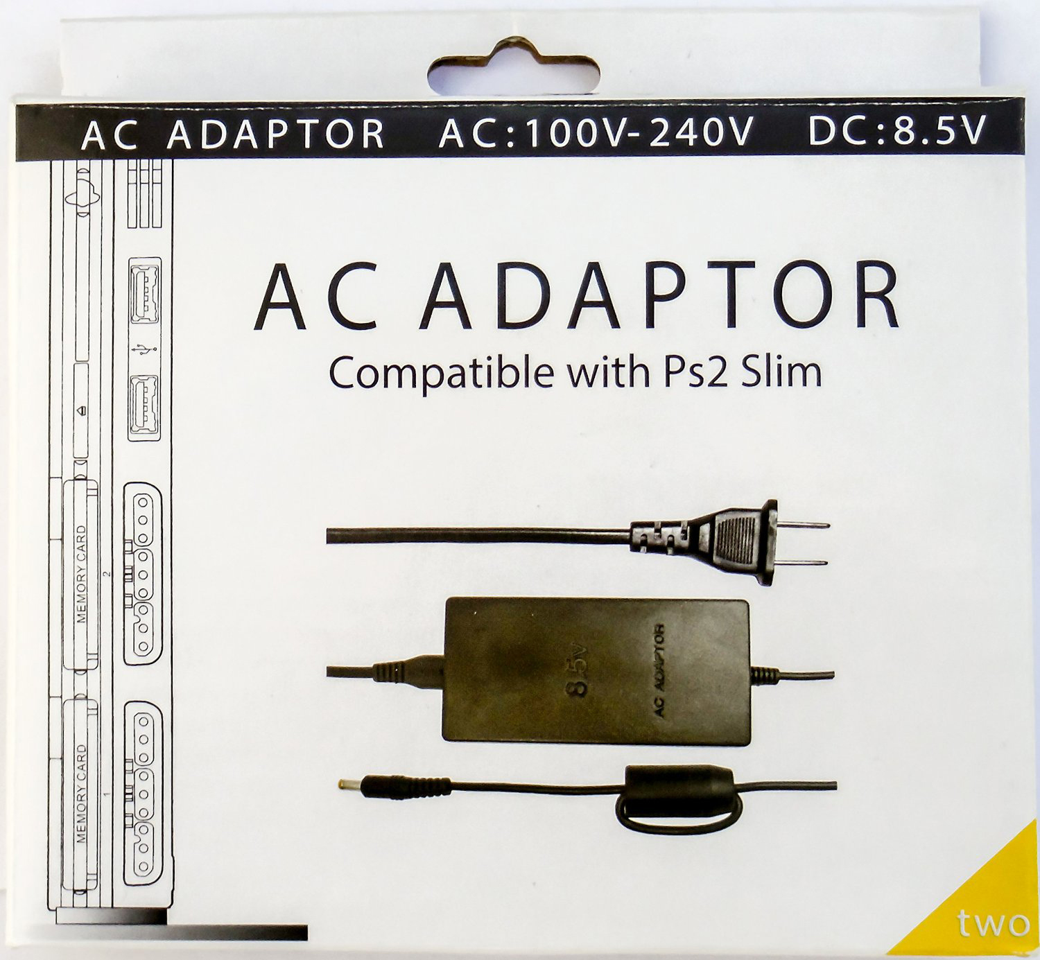 sony playstation 2 slim. ps2 ac adapter for sony playstation 2 slim 7000 9000 series playstation