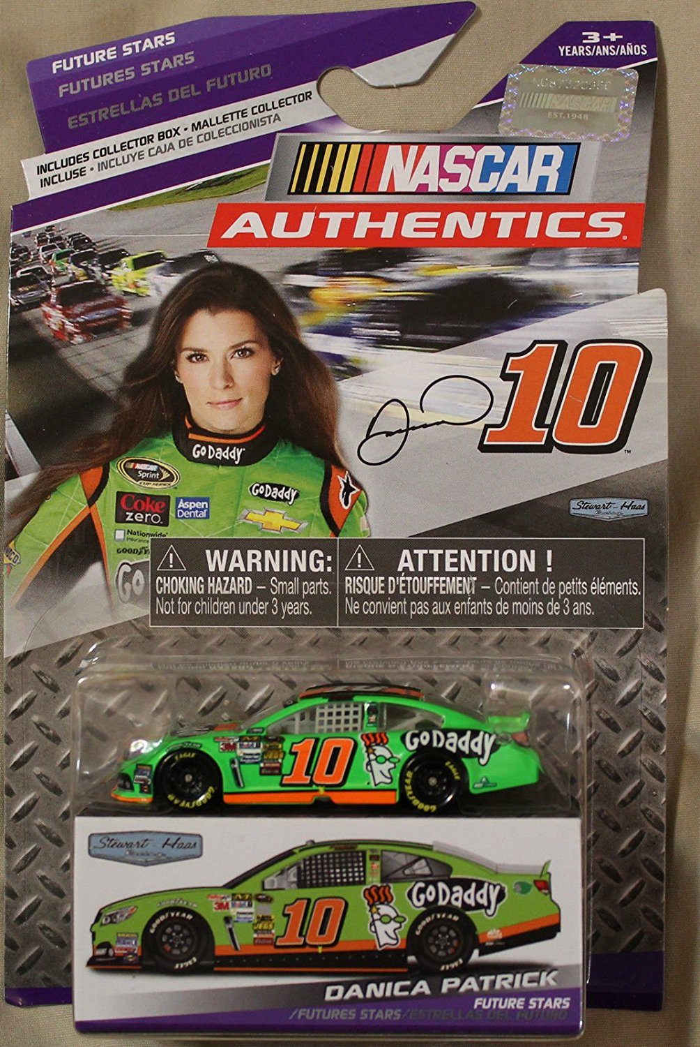 - 1:64th Collector Car 2014 Danica Patrick #10 Go Daddy, Diecast Vehicle By Nascar by