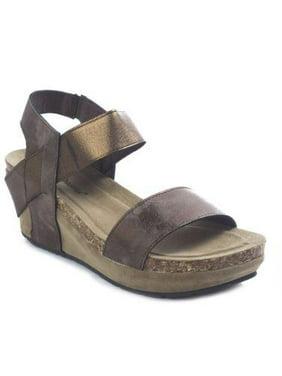 9d838670fb64 ... Paul s Shoes. Free shipping. Product Image Pierre Dumas Women s Chantal  2 Bronze Metallic Strap Low Dress Wedge Size  ...