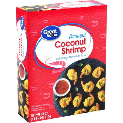 Great Value Breaded Coconut Shrimp, 18 oz