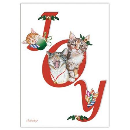 Pipsqueak Productions C592 Joy Cat Christmas Boxed Cards - Pack of - Joy Boxed Christmas Cards
