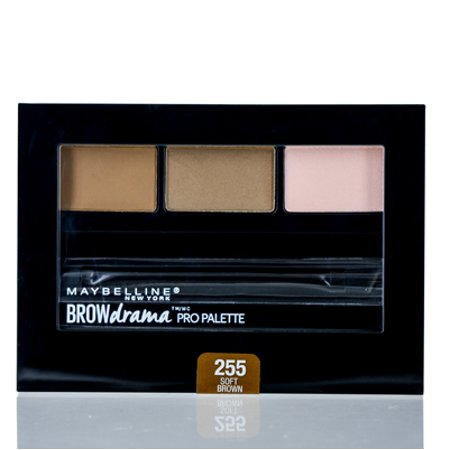 MAYBELLINE  BROW DRAMA PRO PALETTE SOFT BROWN .1 OZ (2.8 ML) Makeup (Best Morphe Palette For Brown Eyes)