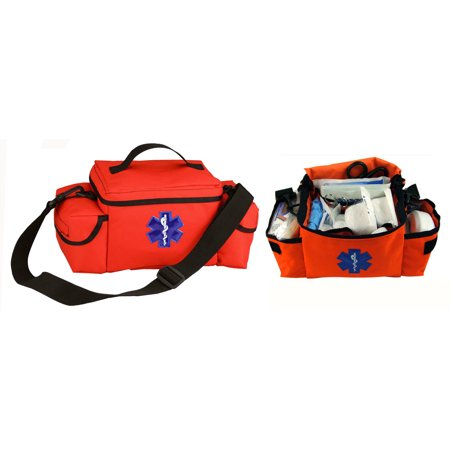 Ultimate Arms Gear Compact Heavy Duty Bright High Visibility Orange EMS/EMT Emergency Medical Paramedic Rescue Supplies Gear Pack Trauma Equipment First Aid Kit Carry Rescue Shoulder Bag