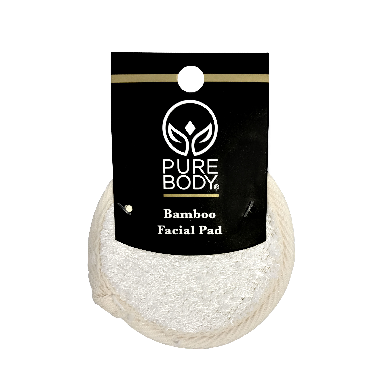 (2 pack) Pure Body Bamboo Facial Buffer for Sensitive Skin