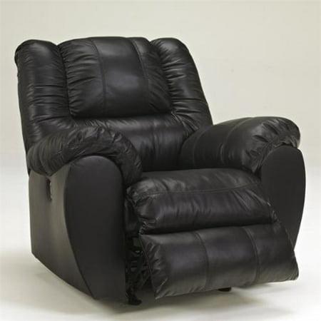 ashley furniture mcadams leather rocker recliner in black