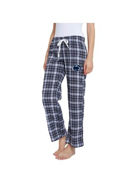 Women's Navy/Gray Penn State Nittany Lions Devote Flannel Lounge Pants