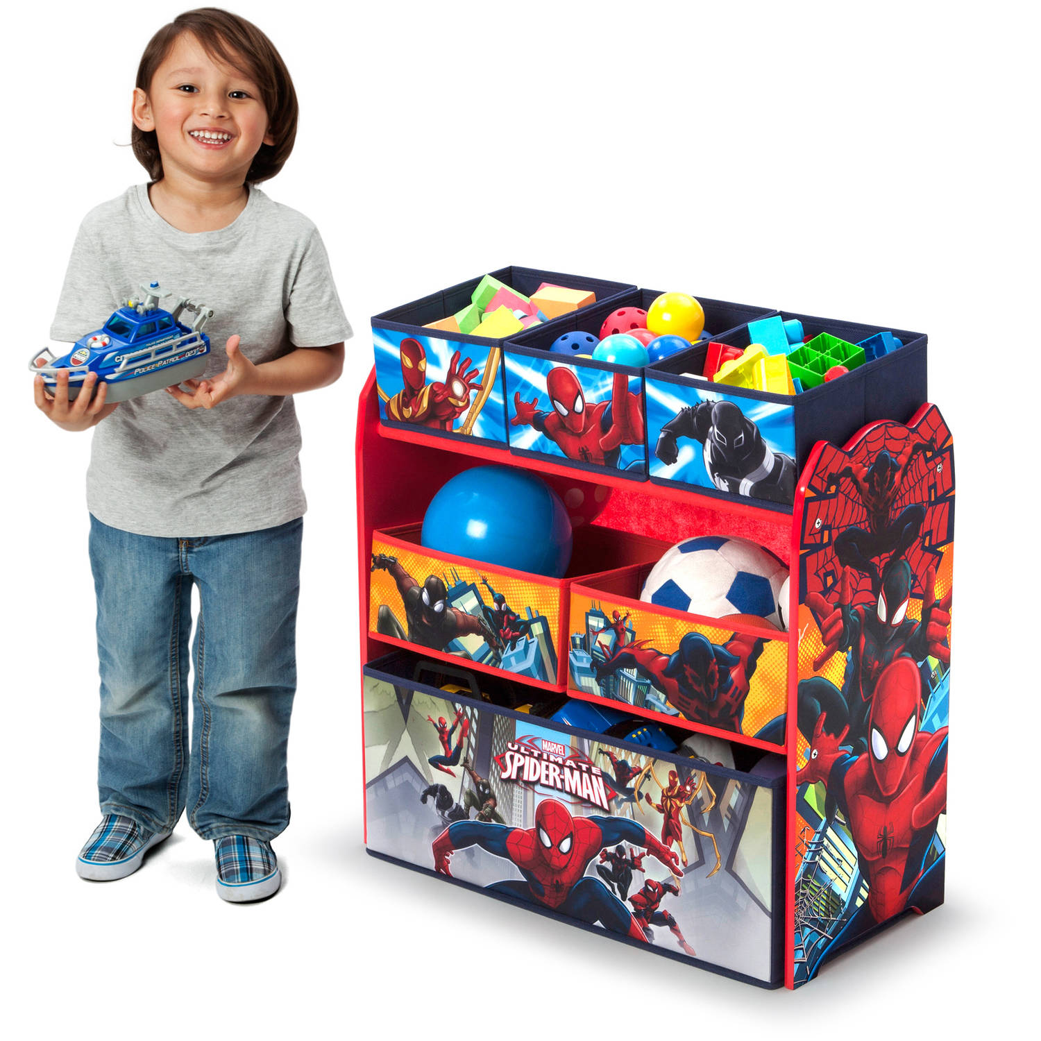 Delta Children Spider-Man Multi-Bin Toy Organizer by Delta Children