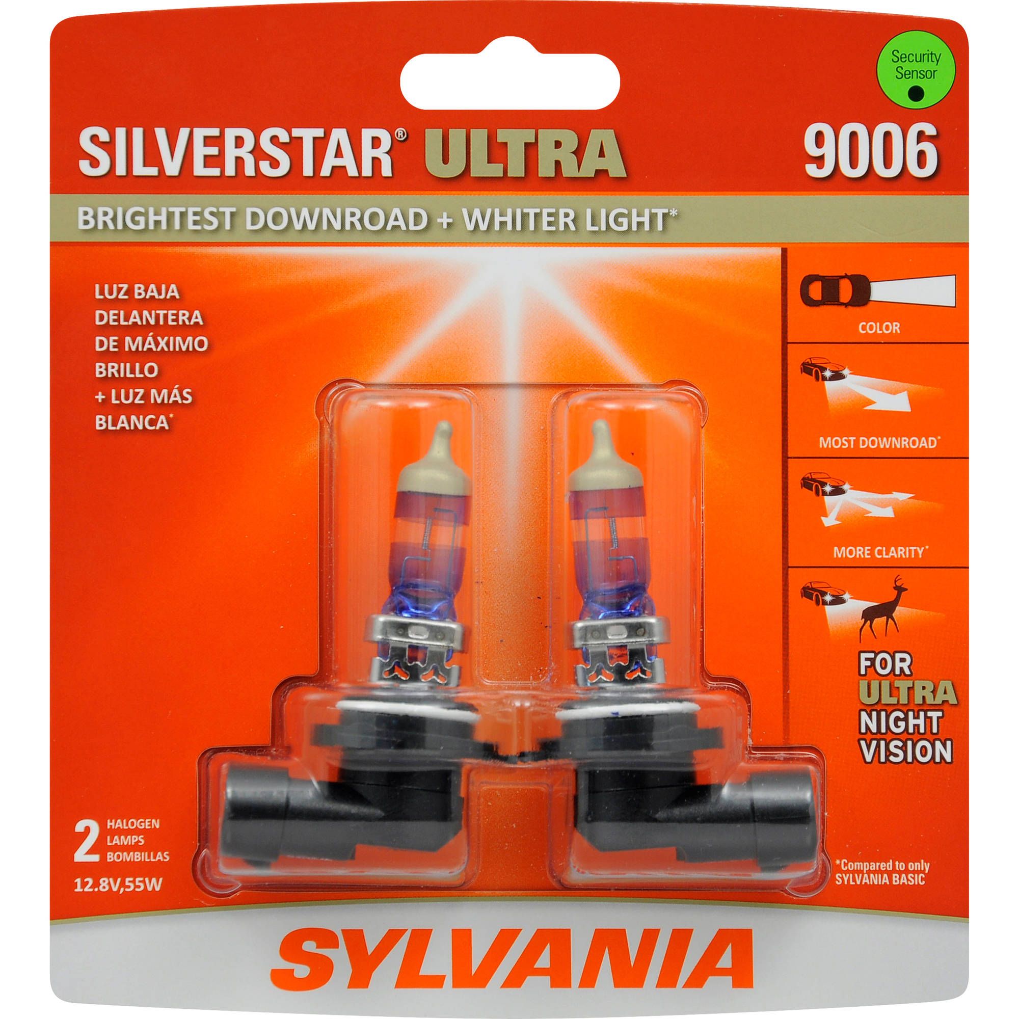 Sylvania 9006 Silverstar Ultra Headlight Contains 2 Bulbs