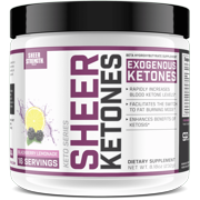 Sheer KETONES BHB Salts Supplement - Exogenous Ketones Complex For Burning Fat, Boosting Energy and Jumpstarting ketosis Fast - Blackberry Lemonade Beta-Hydroxybutyrates, Sheer Strength Labs, 232g