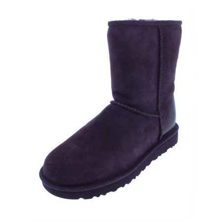 Ugg Womens Classic Short II Suede Winter Boots Purple 5 Medium (B,M) ()