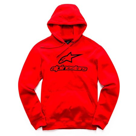 Alpinestars Always Fleece Hoody (Red, Small)
