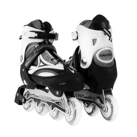 Size 8-11 Adjustable Inline Skates for Adults, Black Micro Adjust In Line Skate