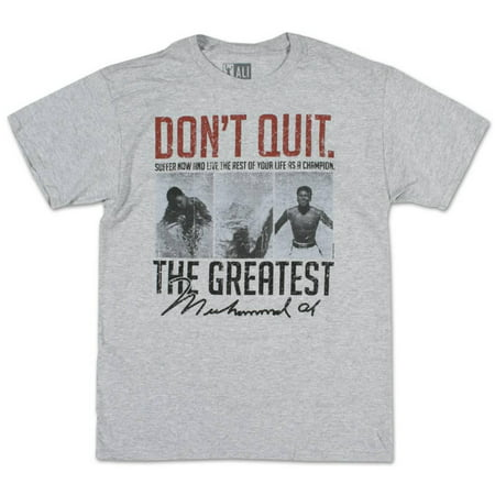Muhammad Ali - Suffer Now Apparel T-Shirt - Grey (Muhammad Ali Best Knockouts Ever)