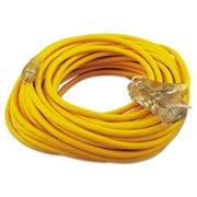 Coc 03489 100 ft. Polar & Solar Outdoor Extension Cord, Three-Outlets - Yellow