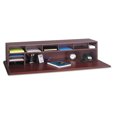 Safco Low-Profile Desktop Organizer, 10 Sections, 57 1/2 ...