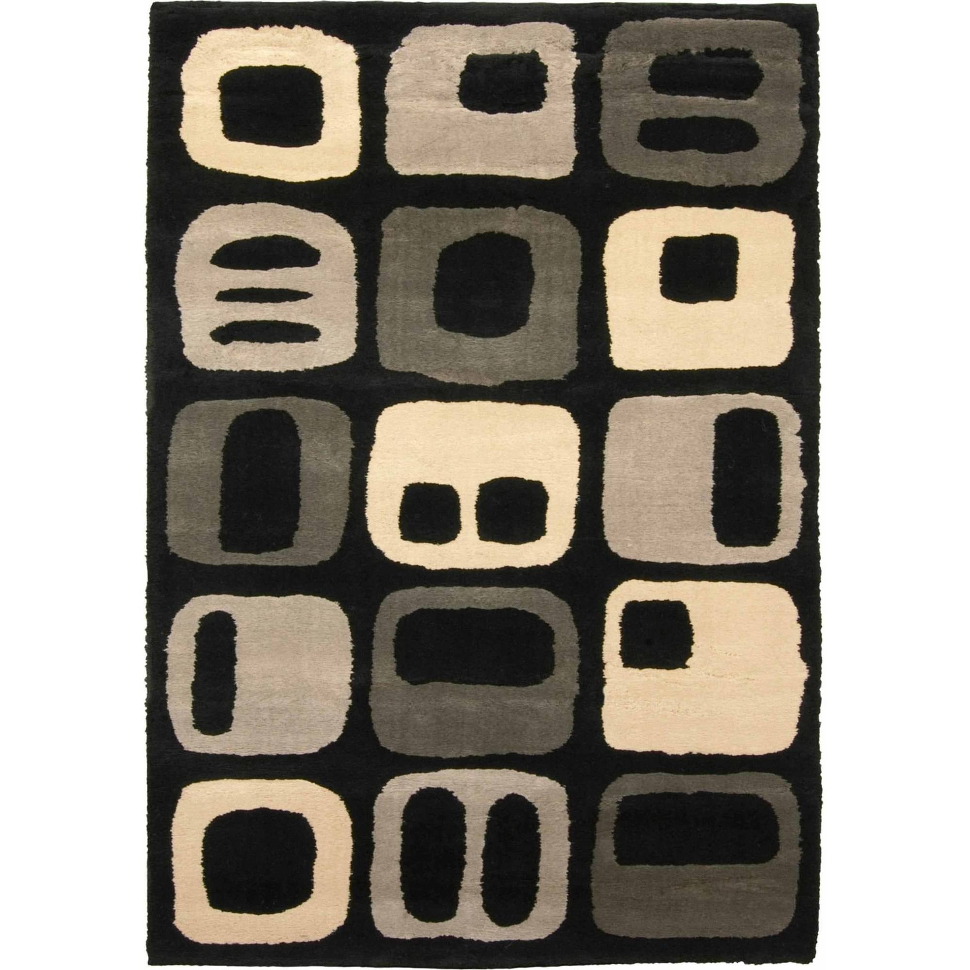 "Orian Rugs Taffy Black Area Rug, 53"" x 76"""