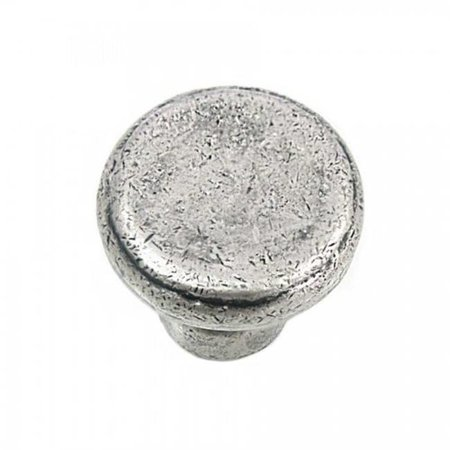 Strategic Brands 84364 Distressed Pewter Riverstone Large Button Cabinet Knob