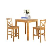 Youngstown Dining Set Counter Height-Finish:Oak,Quantity:3 Piece