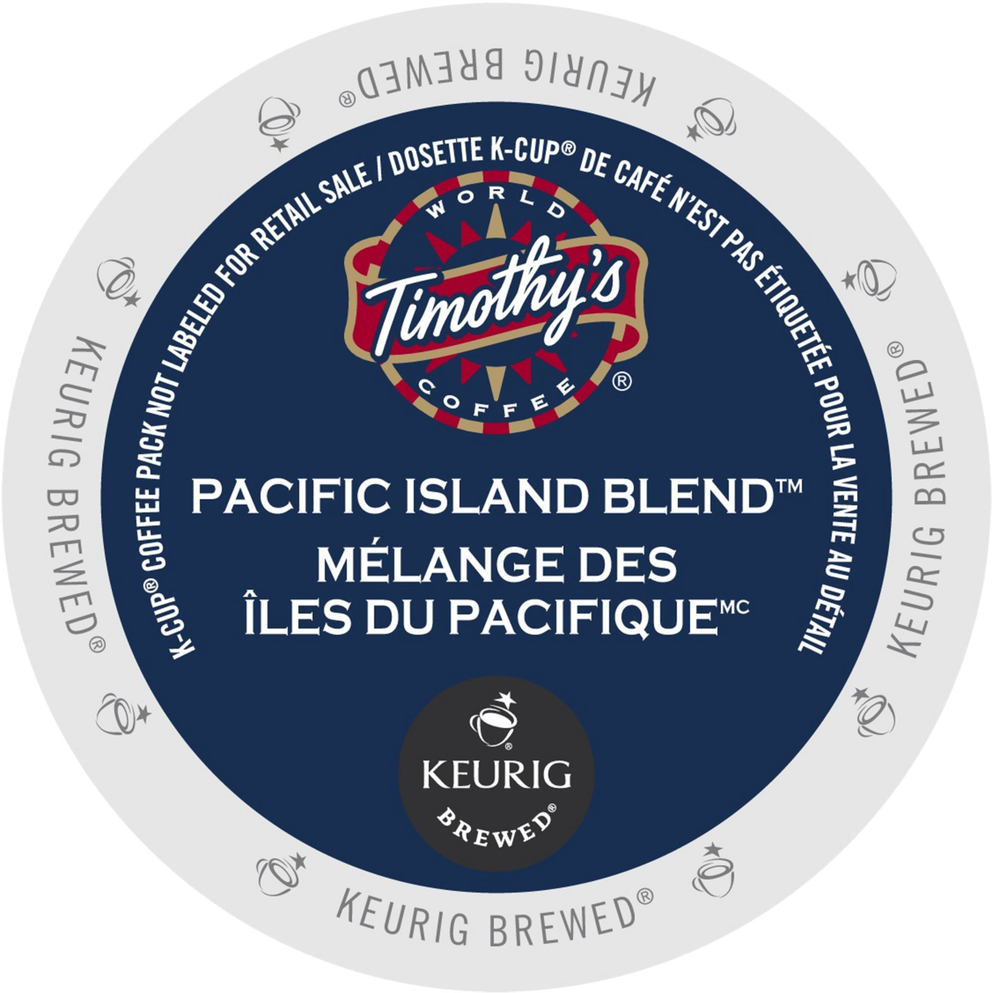 Timothy's Pacific Island Blend, K-Cup Portion Pack for Keurig Brewers (96 Count) (4x16oz)