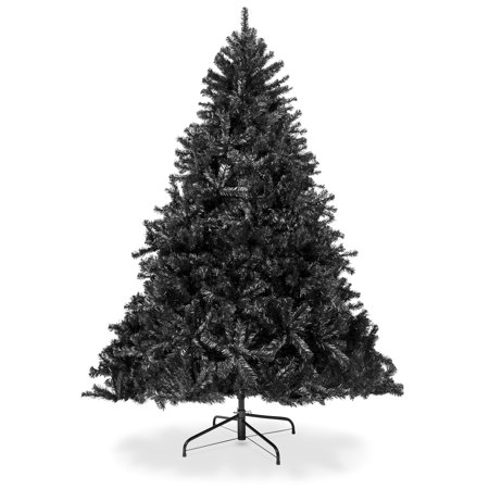 Best Choice Products 6ft Artificial Full Christmas Tree Holiday Decoration w/ 1,477 Branch Tips, Stand - Black ()