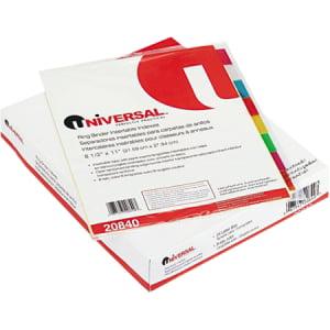 Universal Tab Divider - 24 x Divider(s) - 8 Blank Tab(s) - 8.5