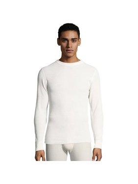 Hanes 843347111981 Mens Waffle Knit Thermal Crewneck T-Shirt, Natural - Large
