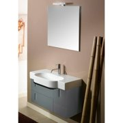 "Nameeks NE4 Iotti 35"" Wall Mounted Vanity Set with Wood Cabinet, Ceramic Top, 1"