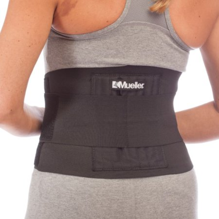 Mueller Adjustable Back Brace, Black, One Size Fits Most (Adjustable Upright Support)