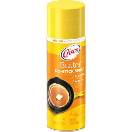 (3 Pack) Crisco Butter Flavor No-Stick Cooking Spray, (Best Popcorn Butter Spray)