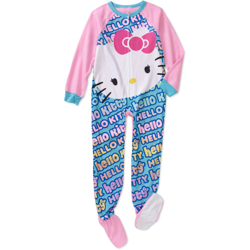 Hello Kitty - Girls' Footed Blanket Slee - Walmart.com