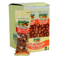 Product Of Snak Club, Tube Toffee Peanuts, Count 12 (2 oz) - Snacks / Grab Varieties & Flavors