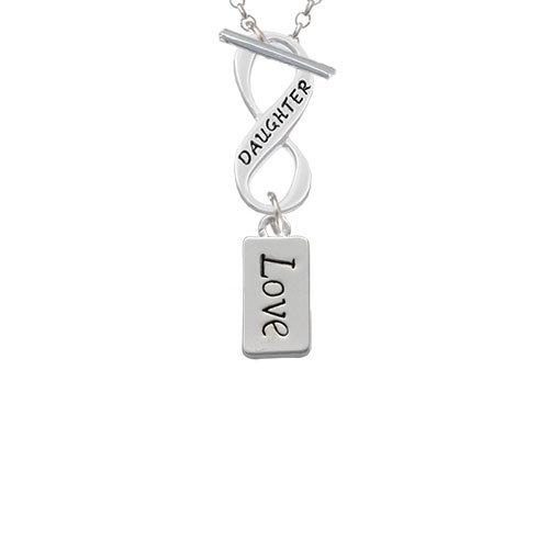 Love Daughter Infinity Toggle Chain Necklace